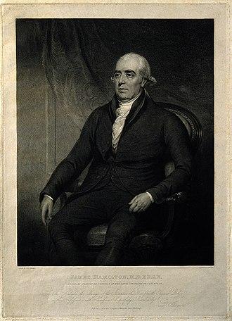 James Hamilton (physician) - James Hamilton M.D., 1825 engraving