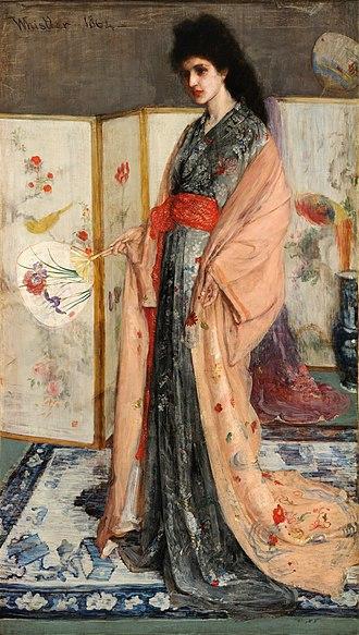 The Princess from the Land of Porcelain - Image: James Mc Neill Whistler La Princesse du pays de la porcelaine brighter
