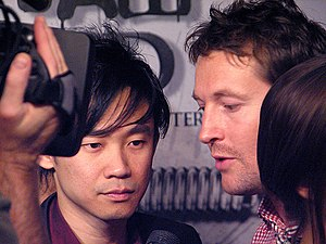 Leigh Whannell - Whannell (right) and James Wan (left) attending the Saw 3D premiere on 27 October 2010.