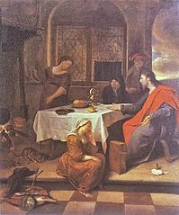 Christ in the House of Mary and Martha, circa 1655