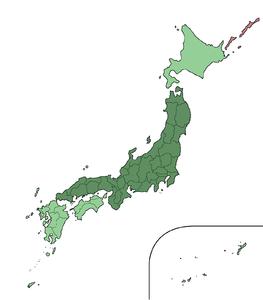 Karte von Honshū