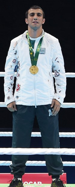 Javid Chalabiyev Boxing at the 2017 Islamic Solidarity Games 6 (cropped).jpg