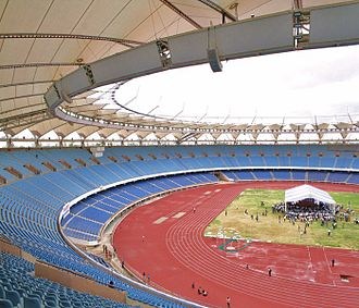 Athletics at the 2010 Commonwealth Games - Image: Jawaharlal Nehru Stadium 1
