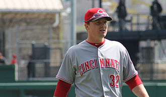 Jay Bruce - Bruce before a game in April 2014.