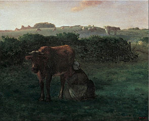 Woman Milking a Cow