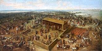 Königswahl von August von Sachsen in Wola im Jahre 1697Ölgemälde von Jean-Pierre Norblin de La Gourdaine, ca. 1790 (Quelle: Wikimedia)