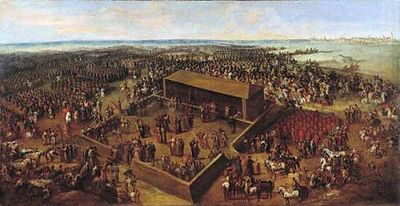 History of democracy wikipedia the election of augustus ii at wola outside warsaw polish lithuanian commonwealth in 1697 painted by bernardo bellotto fandeluxe Gallery