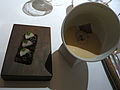 Jelly of quail, crayfish cream, truffle toast (7171941859).jpg