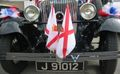 Jersey flags on vintage car Liberation Day 2006.jpg