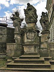 Sousoší svatého Karla Boromejského, svatého Jana Nepomuckého a svatého Floriána