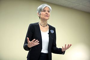 Jill Stein presidential campaign, 2016 - Stein speaking at a campaign event in Mesa, Arizona
