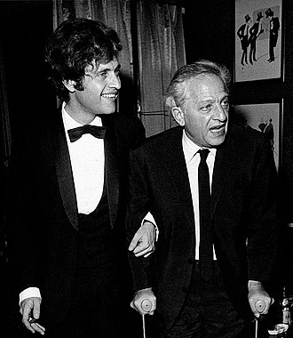 Jules Dassin - Jules Dassin (right) with son Joe in Paris in 1970