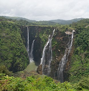 Jog Falls Waterfall in the Indian state of Karnataka.