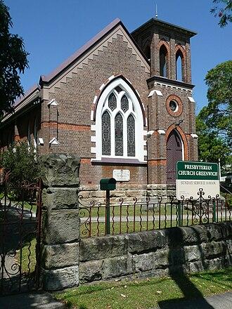 Greenwich, New South Wales - Image: John Taylor Memorial Church