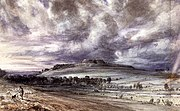John Constable, watercolor, 30cm×48.7cm, 1834, Victoria & Albert Museum.