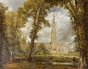 Salisbury Cathedral from the Bishop's Grounds by John Constable
