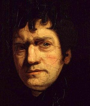 John Wolcot - Portrait of John Wolcot by John Opie, circa 1780 (detail)
