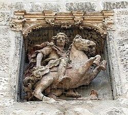 Joigny - Eglise Saint-Thilbault - estátua de Juan de Juni.jpg