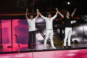 Jonas Brothers - Jonas Brothers performing during their Look Me in the Eyes Tour.