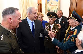 1990s Post-Soviet aliyah - Jewish Red Army veterans in Jerusalem during the Victory Day on 9 May 2017