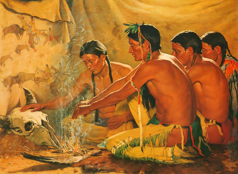 File:Joseph Henry Sharp- Prayer to the spirit of the buffalo.jpg