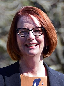 Julia Gillard In office: 2010-2013 Age: 58 Julia Gillard at Faulconbridge (36190455175) (cropped).jpg