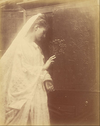 """Enid (given name) - Julia Margaret Cameron, """"Enid"""", 1874: portrait of the legendary figure as depicted in Tennyson"""