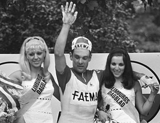 1969 Tour de France - Julien Stevens after his win in Maastricht, Netherlands, on stage two