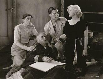 Charles Starrett - L-R: Eddie Borden, Clarence Geldart, Charles Starrett, and Anita Page in Jungle Bride (1933)