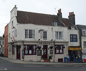 Grade II listed buildings in Brighton and Hove: I–L - Image: Jury's Out (former Thurlow Arms), Edward Street, Brighton (Io E Code 480705)