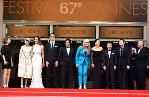 Leila Hatami - Leila Hatami between the main competition jury of Cannes Film Festival.