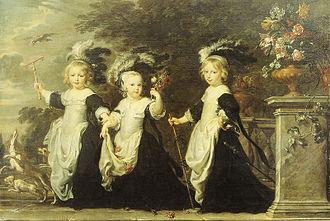Justus van Egmont - Portrait of the Goubau children, depicting Alexander IV Goubau, Lord of Mespelaere, (1658-1712) and his brother Joannes V Cornelis Goubau, (1660-1702).