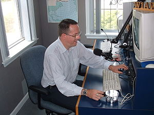 American Radio Relay League - One of the many guest operators at W1AW's Studio One. (2004)