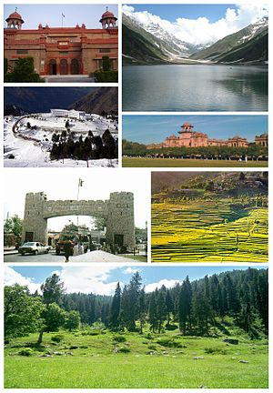 English: Montage of various Khyber Pakhtunkhwa...