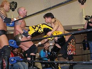 Kudo (wrestler) - Kudo in the ring with Sal Thomaselli