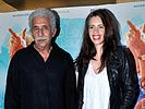 Naseeruddin Shah and Kalki Koechlin at the film's premiere