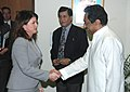 Kamal Nath meeting with the Minister of Intergovernmental Affairs, Minister of Western Economic Diversification and President of the Privy Council of Canada, Ms. Rona Ambrose, in New Delhi on November 07, 2007.jpg
