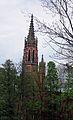 Kamieniec Ząbkowicki, wieża kościoła ewangelickiego.JPG