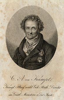 C. A. von Kamptz. Kupferstich von Meno Haas, um 1830 (Quelle: Wikimedia)