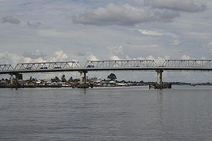 Kapuas River - A bridge on the outskirts of Pontianak