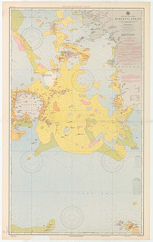 Karimata Strait - A 1917 nautical chart of the strait, published by the United States Hydrographic Office.