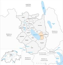 Karte Gemeinde Sempach 2013