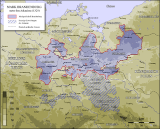 A region of the mediaeval and early modern Margraviate of Brandenburg, and later the Prussian province of Brandenburg, Germany.
