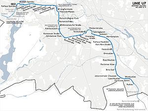 U7 (Berlin U-Bahn) - Image: Karte berlin u u 7