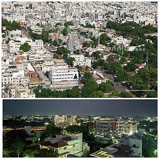 Karur City in Tamil Nadu, India