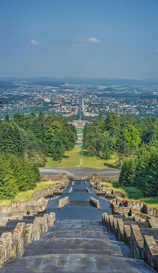 Kassel-Wilhelmshöhe - Vertical Panorama from Herkules' point of view