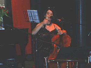 Last Amendment - Kate Shortt performing at a Last Amendment event at the Vortex Club, Jan 2006