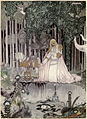 Kay Nielsen - east of the sun and west of the moon - THE LASSIE AND HER GODMOTHER - He too saw the image in the water.jpg