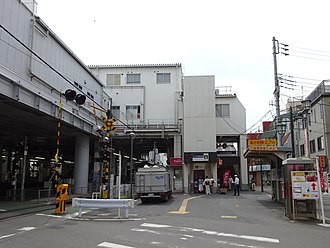Keisei-Takasago Station - The north entrance to the station in June 2016
