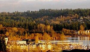 Kenmore, Washington - Image: Kenmore harbour from uplake